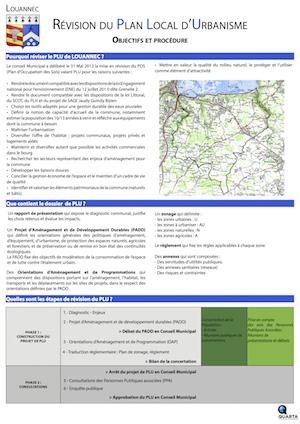 PLU : objectifs et procédure